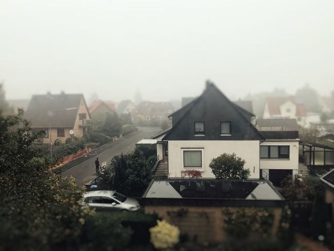 houses in autumn landscape. Fog and rain Autumn Gifhorn Houses Rainy Days Architecture Building Exterior Built Structure Day Fog Foggy Day Germany House Houses And Windows No People Outdoors Raine Residential Building Sky Tree