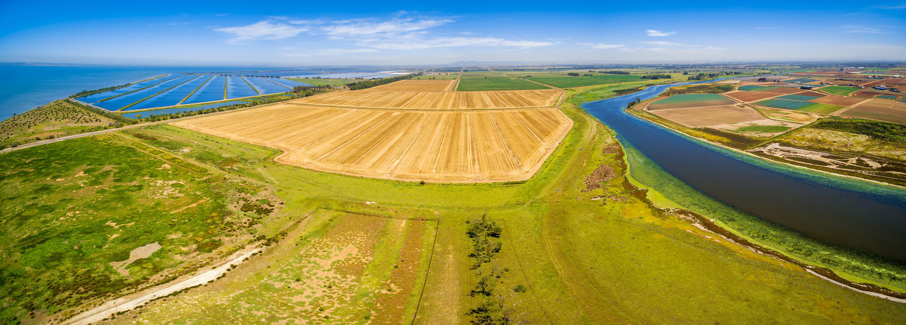 Agriculture Australia Drone  Field Plant Water Treatment Plant Aerial Aerial Landscape Aerial View Agricultural Land Agriculture Beauty In Nature Cocoroc Day Drone Photography Field Landscape Melbourne Nature No People Outdoors Plowed Field Rural Scene Scenics Sky Treatment Water