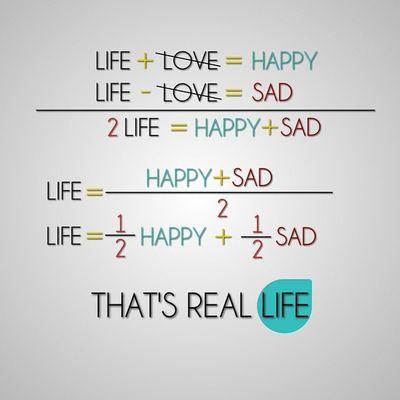 Life Love Happy Sad