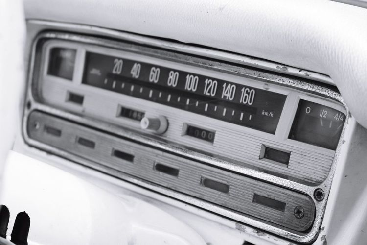 Dashboard of vintage car