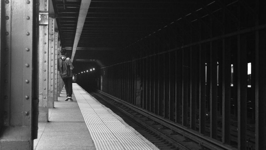 Enjoy The New Normal EyeEm Best Shots EyeEm Best Shots - Black + White NYC Photography NYC NYC Subway Candid Blackandwhite Waiting Waiting For A Train
