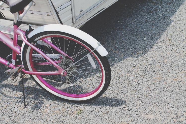 Trailor Gravel Road Bike Wheel Pink Traveling Transportation Two Getting Around My Point Of View