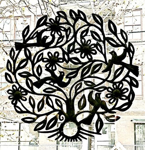 Art is everywhere...~ Hanging In A Window Handmade Sculpture Beautiful No People Art Piece Metalcraft In Portland Maine USA Tree Abstract Pattern Art And Craft