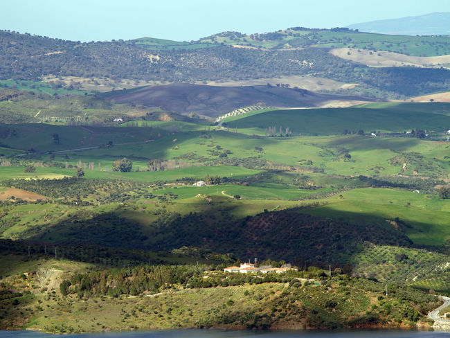 Landscape in Andalusia/Spain Aerial View Aerial Views Agriculture Andalusia Beauty In Nature Countryside Landscape Landscapes Mountain Mountains Nature Nature Park  Nature Reserve Panorama Rural Scene Shadow Shadows Shadows & Lights Sierra De Grazalema SPAIN Tourist Destination Tourist Destinations Tranquility Travel Destinations Valley