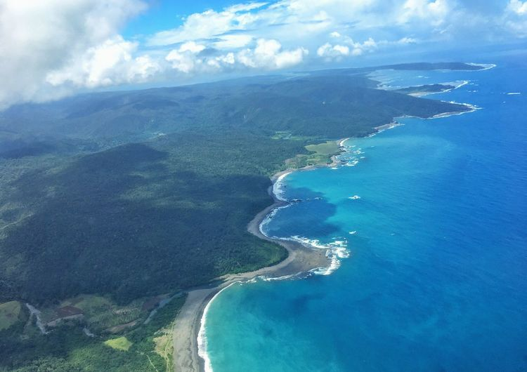 Northeastern part of the Philippines! Sea Aerial View Scenics Beauty In Nature Cloud - Sky Nature No People Sky Landscape Day Water Outdoors Mountain Beach Horizon Over Water Lalakinggala
