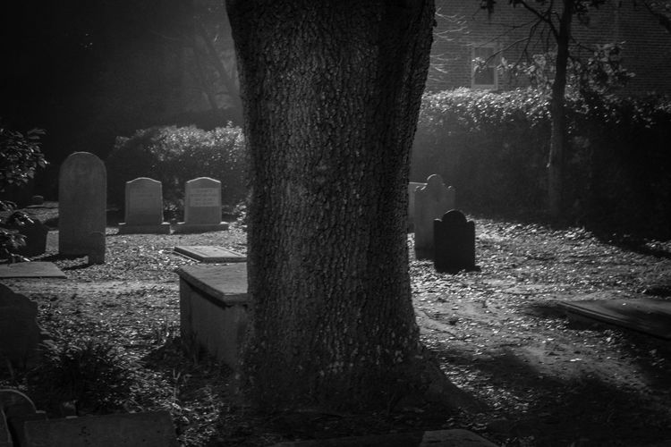St. Philip's graveyard. Cemetery Tombstone Graveyard Gravestone History Charleston SC Thenightisdarkandfullofterrors Haunted Ghosts Streetphotography America No Filter Nightphotography Illuminated Black And White Collection