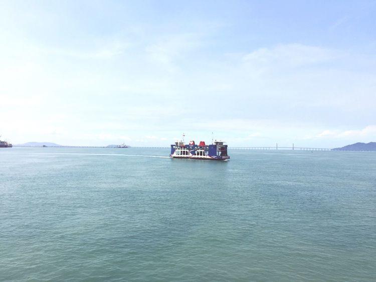 Penang - Butterworth ferry Ferry Ferryboat Malaysia Penang Boat Sea And Sky Andaman Sea