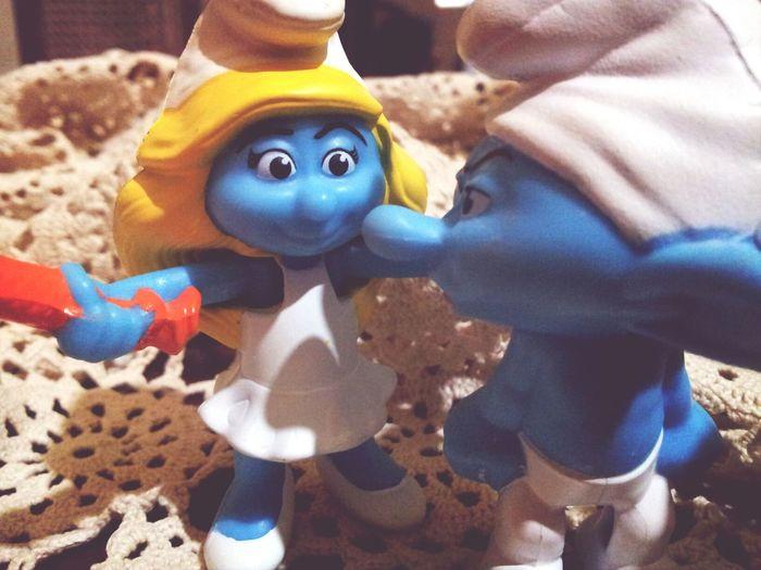 Taking Photos Smurf Smurfette  I Smurf You  ♡