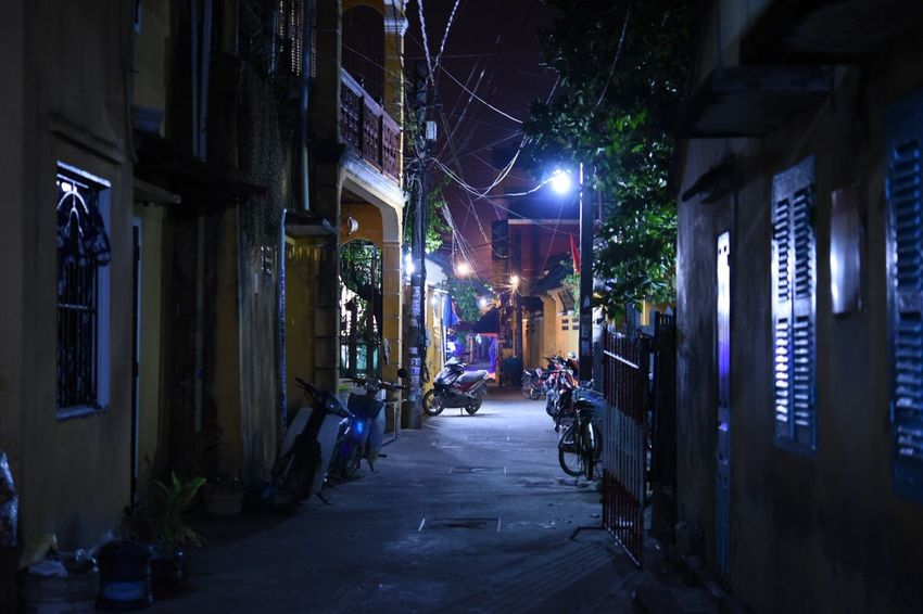 Waliking Around On The Road Old Town Night Building Exterior Illuminated Architecture Built Structure Outdoors Street Light No People