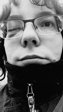 One Person One Woman Only Headshot Looking At Camera Front View Human Face People Portrait Real People Eye Surgery Blackandwhite Monochrome That's Me Feeling Sick January 2017 Winter 2017 Bokeh