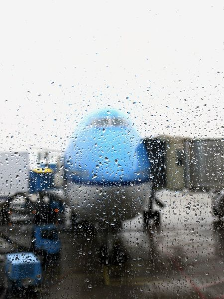 Traveling Airport Schipol Day Drop Glass - Material Indoors  Jumbo Jet Looking Through Window No People Nose Of A Jumbo Jet Rain RainDrop Rainy Season Transparent Transportation Water Weather Wet Window