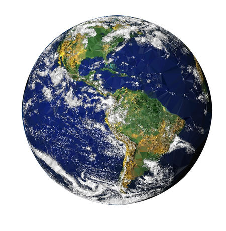 The Earth in Low Poly Style on White Background Low Poly Close-up Cut Out Design Geometric Shape Globe - Man Made Object Green Color Indoors  Low Poly Art Low Poly Planet Low Poly Style Map Nature No People Physical Geography Planet - Space Planet Earth Shape Single Object Space Sphere Studio Shot White Background