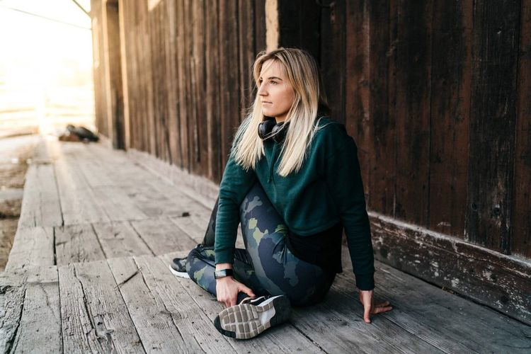 look forward.. Running Sports Clothing Sports One Person Young Adult Casual Clothing Clothing Lifestyles Leisure Activity Hair Blond Hair Real People Women Young Women Hairstyle First Eyeem Photo