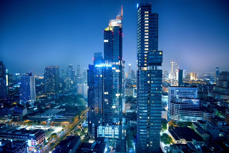 Building Exterior City Architecture Built Structure Building Office Building Exterior Skyscraper Illuminated Cityscape Modern Tower Residential District Sky City Life Travel Destinations Landscape Tall - High Night Urban Skyline Dusk No People Financial District  Light Long Exposure My Best Photo