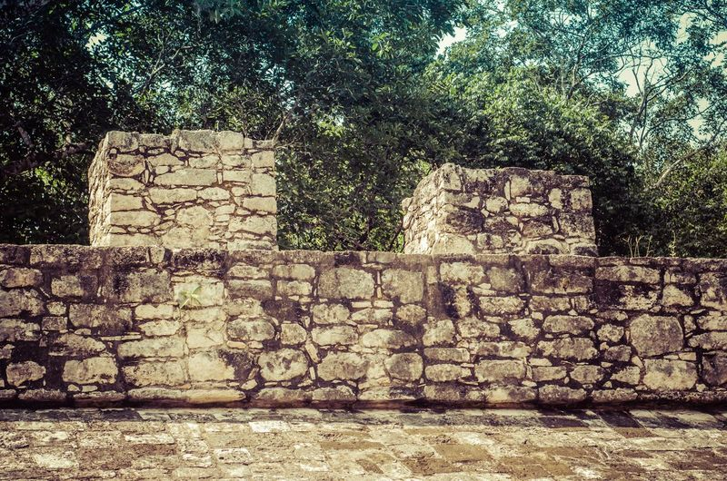 View of old stone wall
