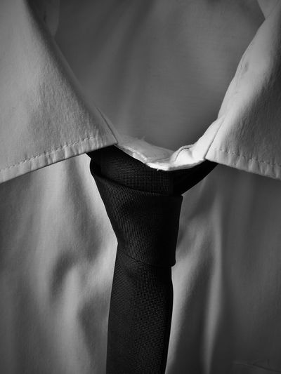 Close-Up Of Necktie On Shirt