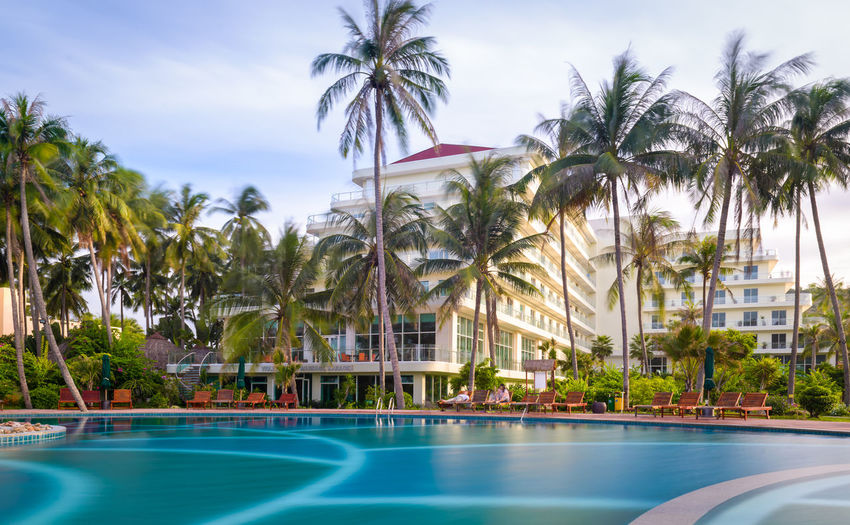 Hotel view As Coconut Palm Tree Day Green Color Outdoors Palm Tree Phan Thiet Swimming Pool Tranquility Travel Destinations Tree Tree Trunk Vietnam