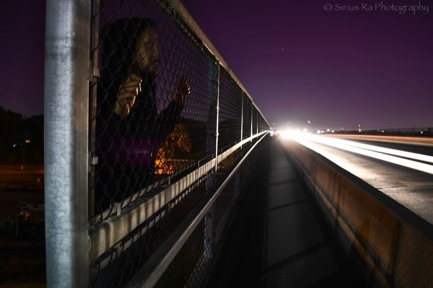(Halloween series 2014) The Ghost Behind The Gate... This photo of me was taken by my twin brother Dustin ( @Starfool ) and edited by yours truly ;) It is a lonThe EyeEm Facebook Cover Challenge eEyeEm Best Shots eNightSnaps BNight Lights ghtSnaps Night Lights Vanishing Point