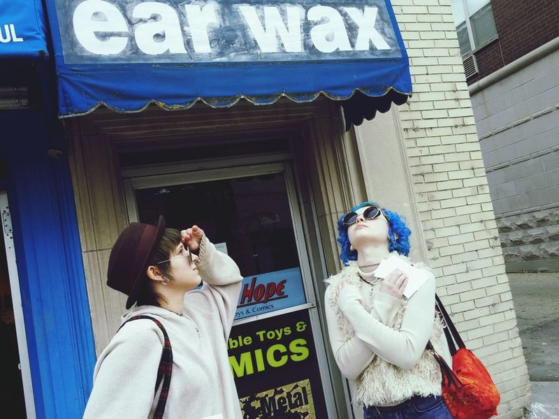 Up Close Street Photography Madison Wisconsin Punk Girls Shopping Posing Beingdorks Bluehairdontcare Hatsoff Sisters♡ Loveit Commentbelow Thanks For Following Me! 📷❤👍