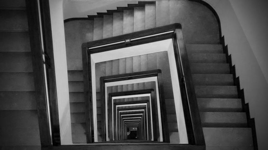 Architecture B&w B&W Collection Blackandwhite Building Design Modern Pattern Scale  Showcase March Stair Staircase Staircase Vertigo Staircases Stairs Symmetrical Symmetrical Architecture Symmetry Vertigo Urban Perspectives TakeoverContrast Monocrome Photography The Graphic City