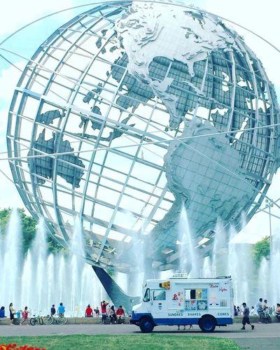 Queens Flushing Meadow Park Globe Mister Softee Summertime Fountain Fountains Public Park New York City Hiddengems Showcase July