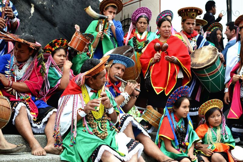 The ritual Shibundoy en Colombia Ritual Colombia Large Group Of People Adult Women Day Traditional Dancing People first eyeem photo