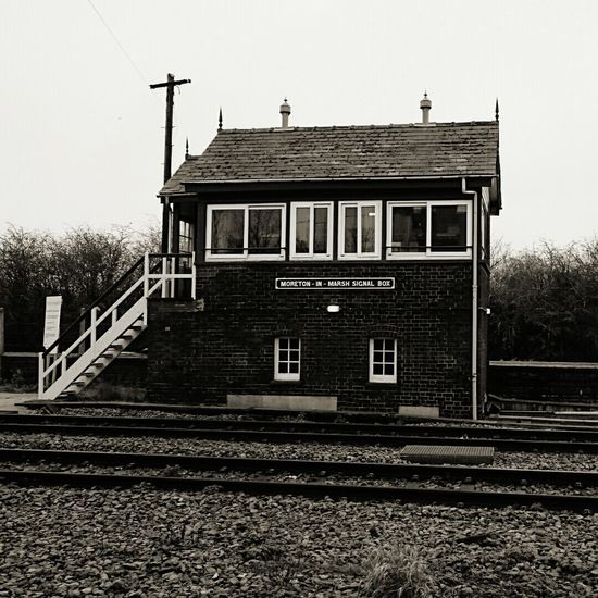 The old signal box at moreton in marsh railway station Check This Out Taking Photos Walking Around Taking Pictures Old Buildings Old-fashioned Oldbuilding Oldtimes Building Buildingstyles Heritage Building Blackandwhitephotography EyeEm Best Shots - Black + White Railway Railway Track Railway Tracks Railwayphotography