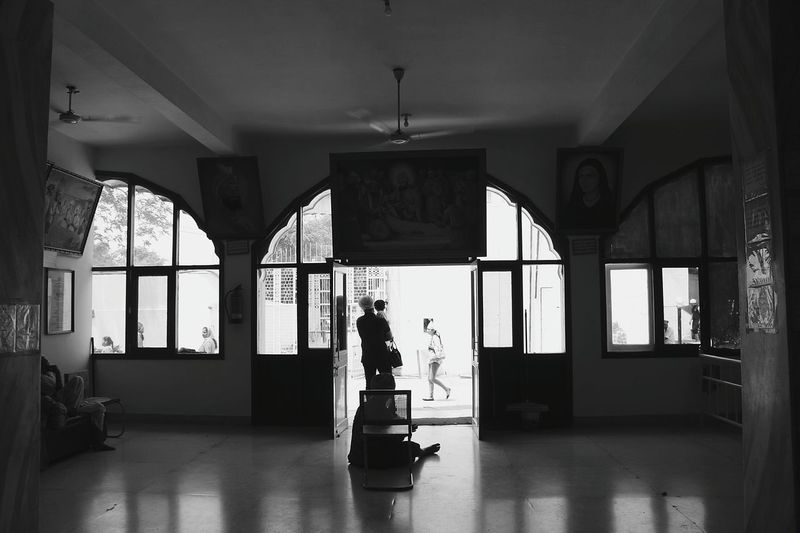 Full Length Silhouette People Adults Only Cleaning One Man Only Window Architecture Adult Day Monochrome Photography Black Blackandwhite Photography Inside Inside Room EyeEmNewHere