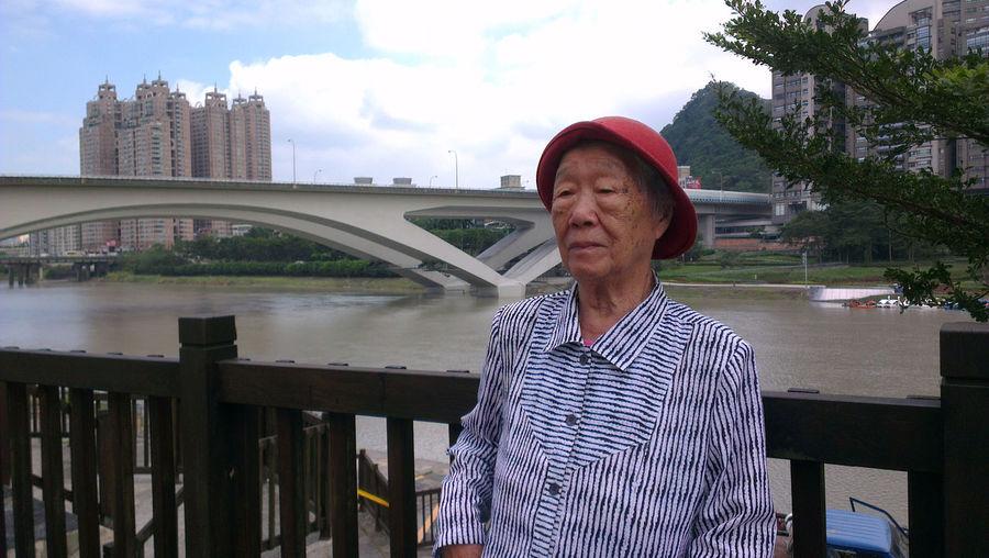 Senior Woman On Bridge
