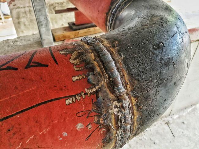 Pipe - Tube Welding Work Steel Close-up Pipeline Steel Mill Steel Worker