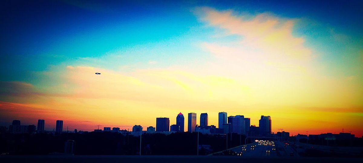 Building Exterior City Architecture Cityscape Urban Skyline Built Structure Skyscraper Sunset Sky Outdoors Silhouette No People Day