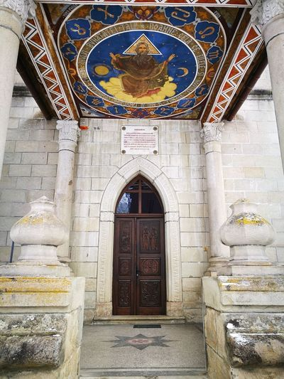 Church No People Colorfull Doors Place Of Worship Arch Astrology Sign Architecture Built Structure Entryway Decorative Art Entrance Historic Fresco Front Door Christianity Church Religion Spirituality