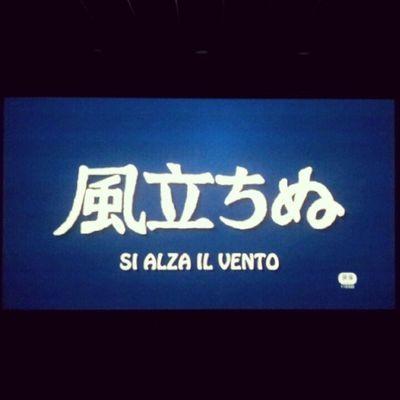 I'm watching another masterpiece! Cinema MOVIE Hayaomiyazaki Film ghibli sialzailvento photooftheday igers instagood instamood tag4likes art