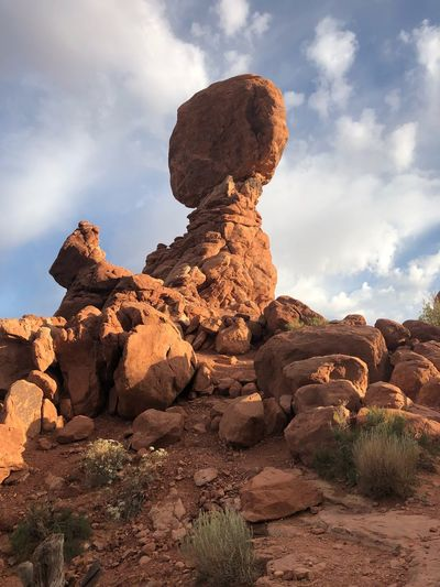 EyeEm Selects Cloud - Sky Sky Rock Solid Nature Rock - Object Tranquility No People Rock Formation Tranquil Scene Beauty In Nature Land Day Plant Scenics - Nature Environment Remote Sunlight Outdoors Geology
