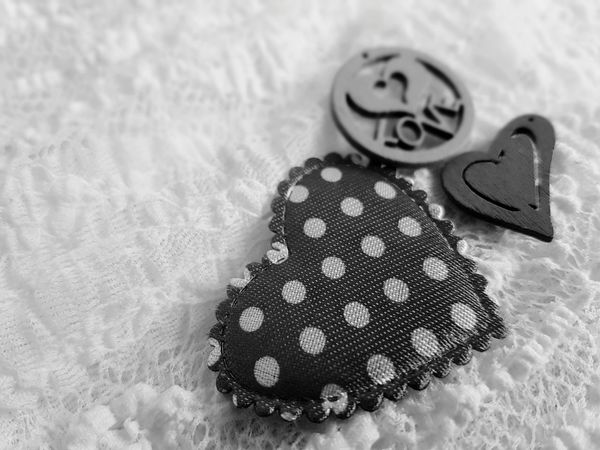 Heart Background Background EyeEmNewHere The Week On EyeEm Lace - Textile Love Heart Shape Heart Textile Black And White I Love You Valentine's Day  Being In Love Dots The Word Love Black And White Friday