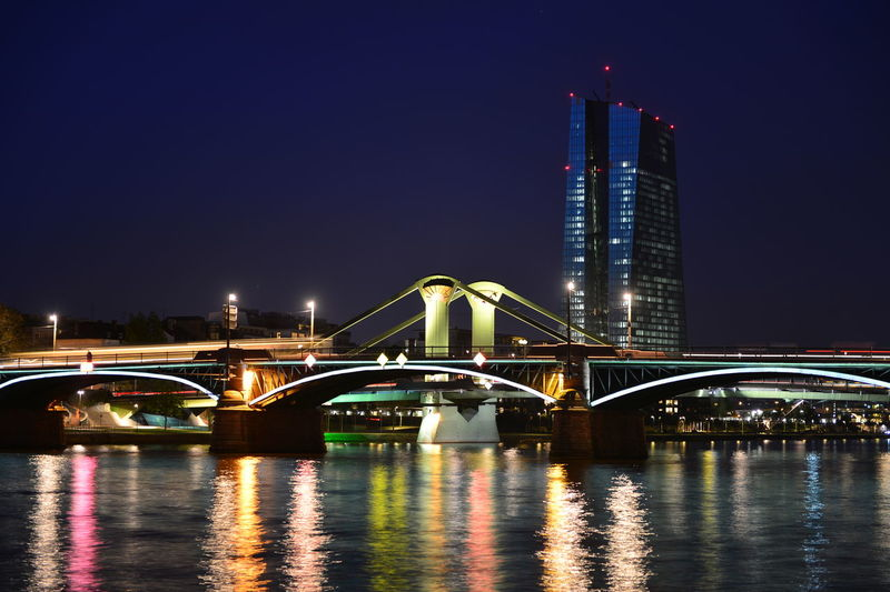 Arch Arch Bridge Architecture Bridge Building Exterior Built Structure City City Life Connection Dark Engineering Famous Place Illuminated Night Reflection River Sky Skyscraper Tall - High Tourism Tower Transportation Water Waterfront