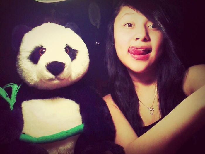 Me and the panda my amazing boyfriend got me ;3