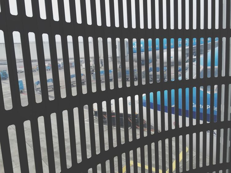 Travel Vacation Business Trip Holiday Travelling In The Terminal Airport Modern Design Dutch Gate No People Window Texture Surface Airplanes KLM Shiphol Amsterdam