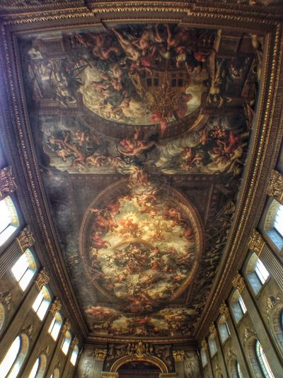 The ceiling of the Painted Hall In The Mean Time EyeEm London Meetup The Architect - 2014 EyeEm Awards