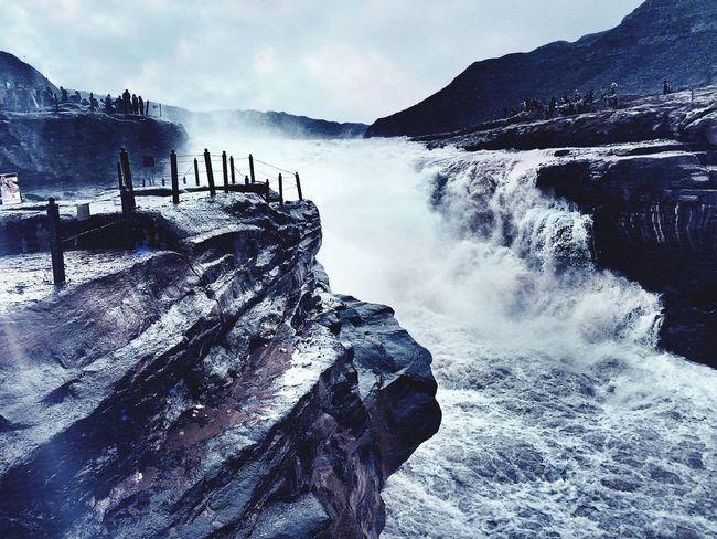 壶口瀑布 瀑布 Power In Nature Nature