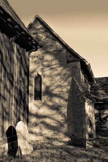 15th Century Architecture Black & White Black And White Building Exterior Built Structure Buttress Church Gothic Arch Leaded Window Leaded Windows Light And Shadow Monochrome No People Tombstone The City Light