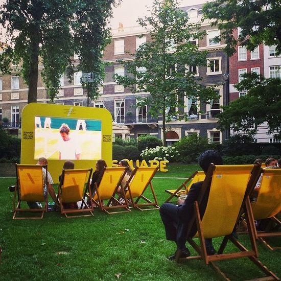 And now Tennis in the square! Wimbledon Summer London