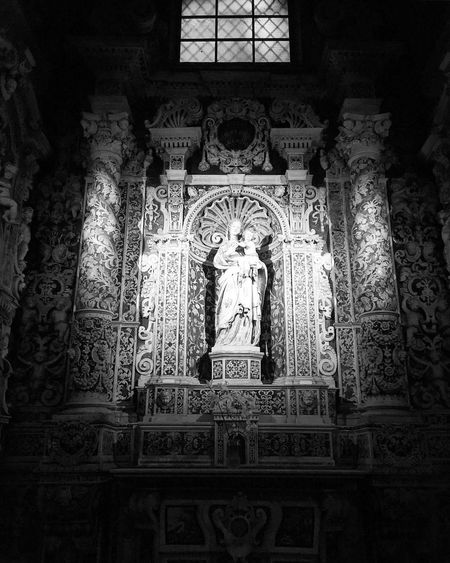 Palermo Palermo Shooting Casaprofessa Human Representation Religion Male Likeness Statue Art And Craft Spirituality Place Of Worship Sculpture Creativity Indoors  Female Likeness Window No People Low Angle View Built Structure Architecture Day Altar