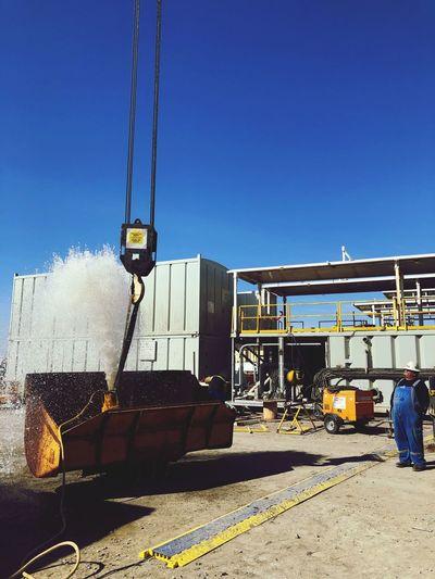 Oilfield geyser