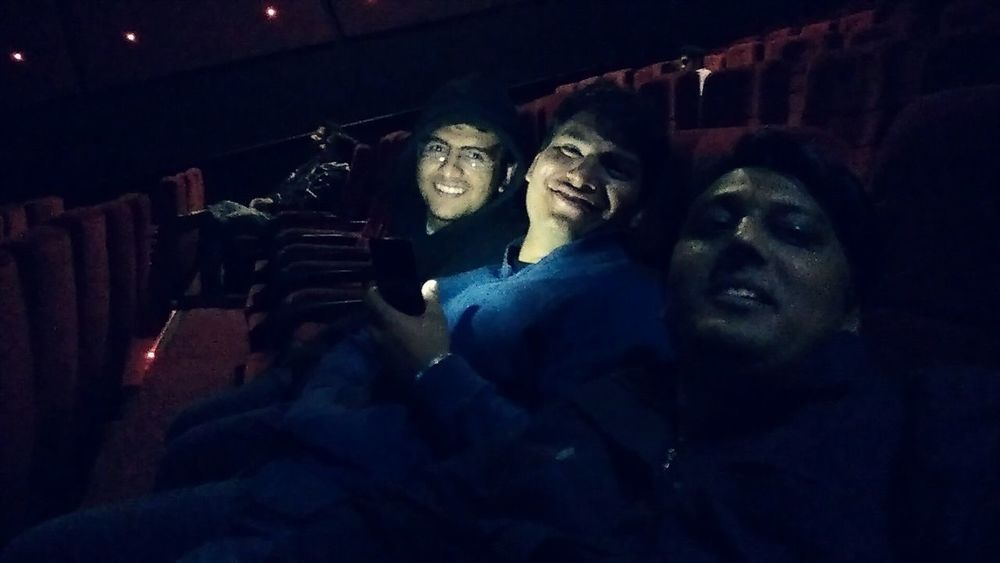 Darkness And Light Pic Inside Cinema Hall Fun With Friends