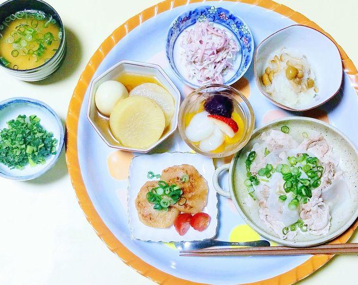 大根づくし🍀 Food Indoors  Healthy Eating Plate Fruit