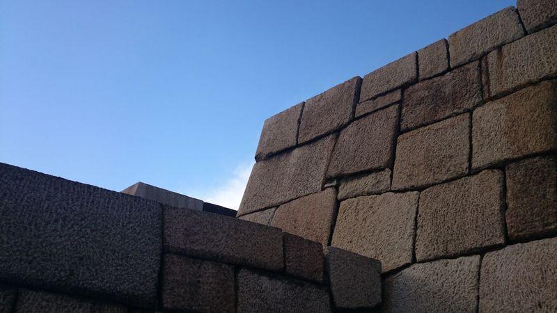 皇居で撮った残りの分いきます。 Imperial Palace Stone Wall Simplicity Minimalism