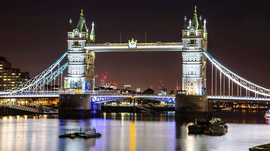 London Bridge Bridge Built Structure Bridge - Man Made Structure Architecture Illuminated Connection Transportation Water Travel Destinations City