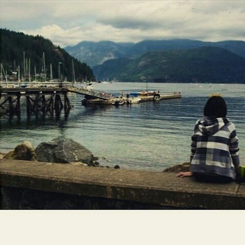 Contemplating Deep Cove. Deep Cove North Vancouver,BC Contemplating