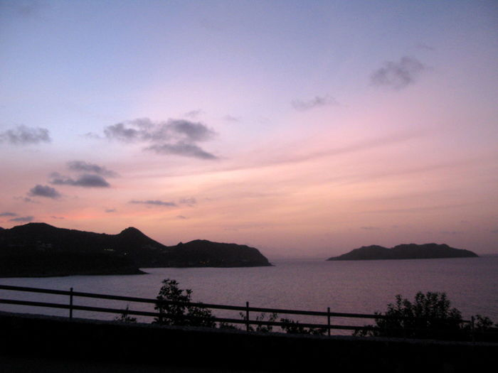Beauty In Nature Day Mountain Mountain Range Nature No People Outdoors Scenics Sea Silhouette Sky Sunset Tranquil Scene Tranquility Tree Water Stbarths Stbarth Frenchwestindies